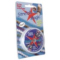 STRETCH MAGIC CORD 1мм; прозрачная нить для браслетов; катушка 5 метров