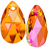 Swarovski Подвеска Капля 16мм Crystal Astral Pink  (6106)