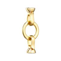 Замочек полированный, Круг +2 карабина; цвет золото