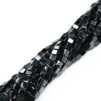 Агат чёрный КУБ, 6мм, 10 бусин