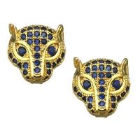 Гепард с Синими Фианитами, цвет золото