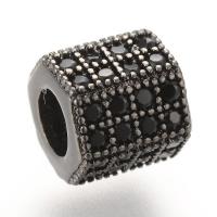 Шайба 6-ти гранная 8*7мм, цвет Чёрный с Чёрными фианитами