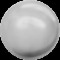 10 бусин Crystal LiGHT Grey  Pearl