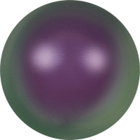 10 бусин Crystal Iridescent Purple Pearl