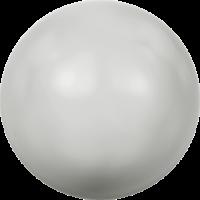 10 бусин Crystal PASTEL Grey  Pearl