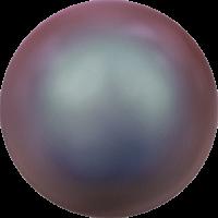 10 бусин Crystal Iridescent Red Pearl