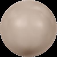 10 бусин Crystal Powder Almond  Pearl