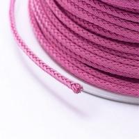 Стальной плетёный шнур с эффектом Мэмори, цвет розовый