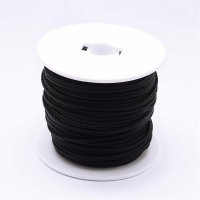 Стальной плетёный шнур с эффектом Мэмори, цвет Чёрный