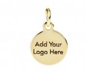 Шильдики с Вашим логотипом, КРУГ 8мм/выносная петля; 100 штук