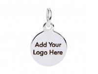Шильдики с Вашим логотипом, КРУГ 10мм/выносная петля; 100 штук