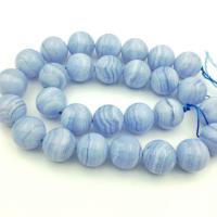 Сапфирин (голубой агат) AА Grade 14мм; 1 бусина