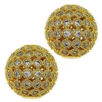 Шар ажурное плетение с Прозрачными Фианитами, 8мм, цвет золото