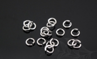 Соединительные колечки круглые, 3*3мм (30 штук), платина
