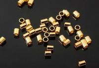Кримпы-трубочки, цвет золото; 2руб/шт; 10 штук