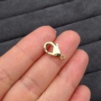 Концевик  4*9,5мм, цвет золото