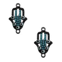 Коннектор Хамса с матовыми кристаллами, цвет чёрный