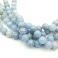 Сапфирин (голубой агат) A Grade 8мм; 23 бусины